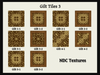 Gilt Tiles 3 Texture Pack by NDC Textures