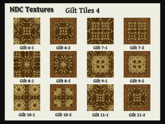 [Immersive Digital] NDC Textures Gilt Tiles 4 Contact Sheet