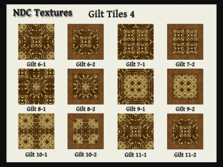 [Immersive Digital] NDC Textures Gilt Tiles 4 Contact Sheet