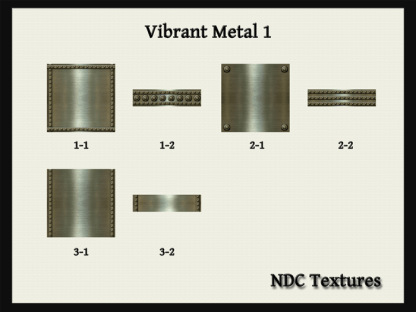 Vibrant Metal 1 Texture Pack by NDC Textures