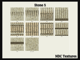 [Immersive Digital] NDC-T068 Stone 5 Texture Pack Contact Sheet