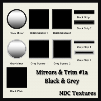 Mirrors and Trim 1a – Black and Grey – Texture Pack by NDC Textures