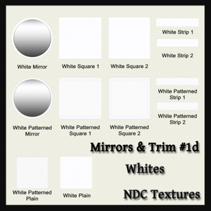 Mirrors and Trim 1d – White – Texture Pack by NDC Textures