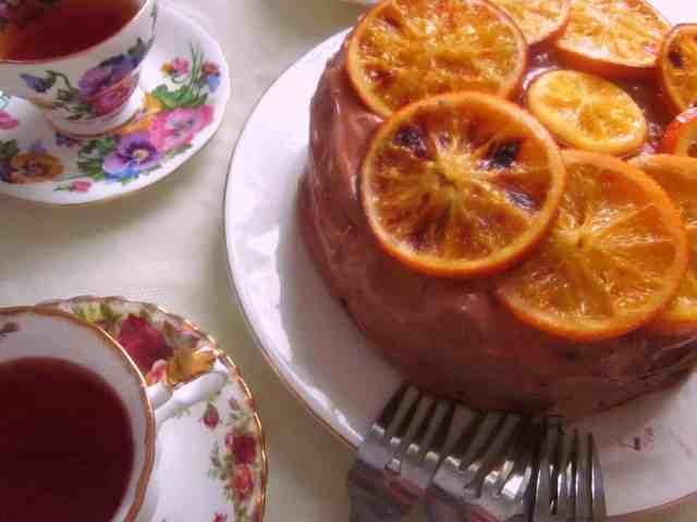 vegan chocolate orange cake for two