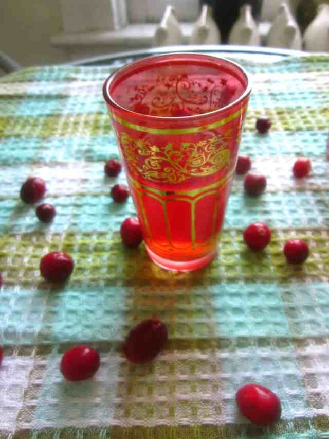 Cranberry mors served