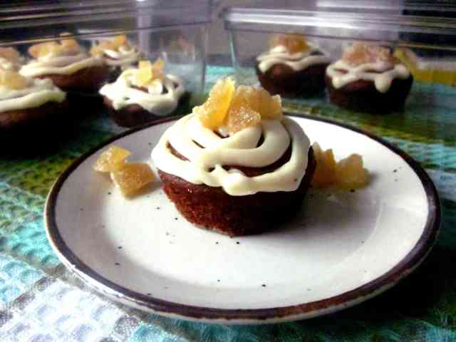 Grapefruit and candied ginger cupcakes