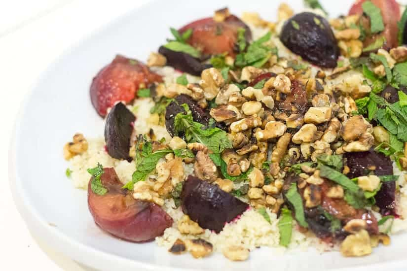 Salad with more walnuts