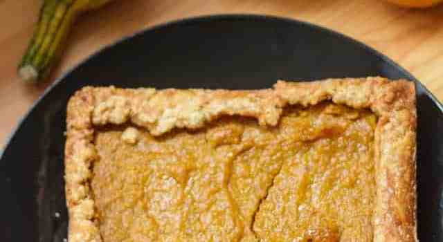 Vegan Hubbard squash pie, or the pie that will satisfy everyone