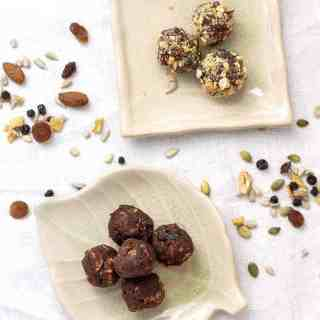 Chocolate nut energy balls