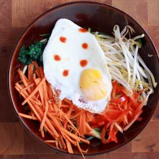 Paleo vegetarian bibimbap (veg, gf, paleo), or the bowl of ultimate, healthy comfort