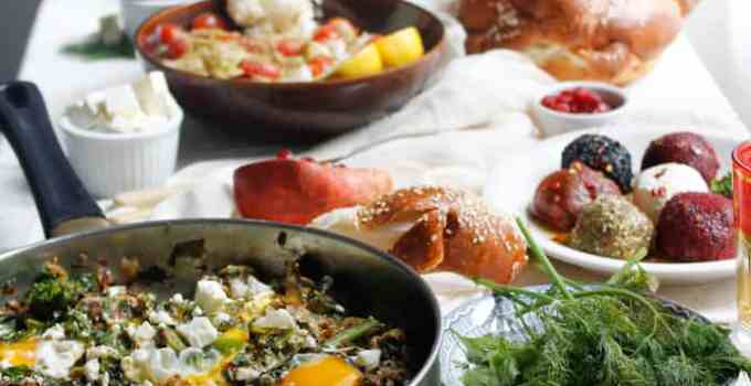 Green shakshuka and the ultimate Israeli breakfast