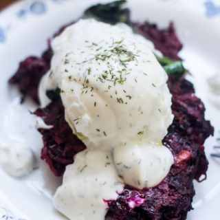 Beet latkes with dill creme fraiche and a Winnipeg Cooks cookbook GIVEAWAY (Gluten-free)