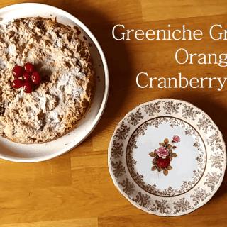 Paleo orange cranberry cake