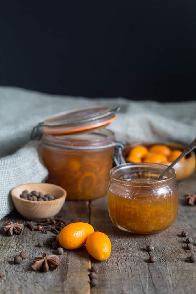 Russian kumquat jam with Chinese spices