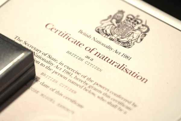 Naturalisation as a British citizen