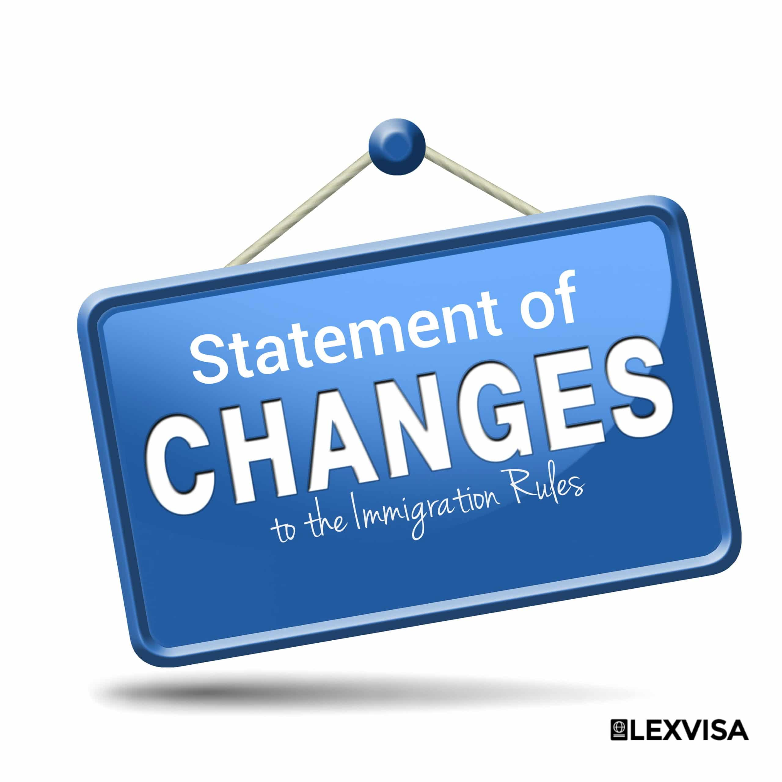 Statement of Changes to the Immigration Rules:11 October