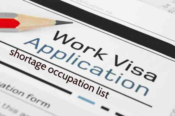 Shortage of Occupation list