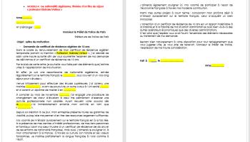 Lettre Pour Demander La Carte De 10 Ans Immigrer Info
