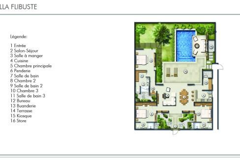 villa de type B est une propriété de plain-pied d'une surface construite de 190 m²