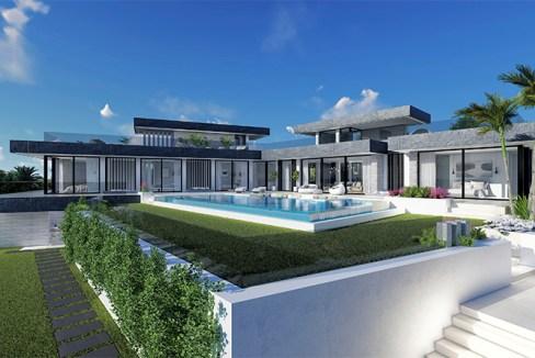 Villa sur plan de 4 chambres avec vue sur la mer sur la Costa del Sol Benahavis0