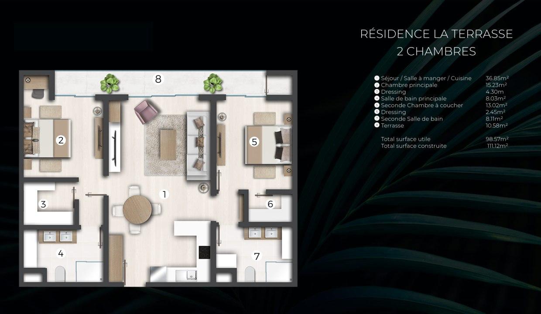 les appartements de prestige de Cap Marina