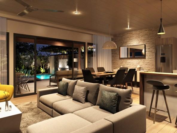 Appartement Duplex dotés de 2 à 3 chambres, jardin, piscine, jacuzzi
