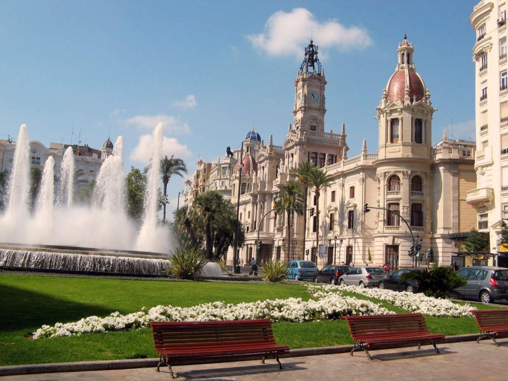 place du centre ville de valencia