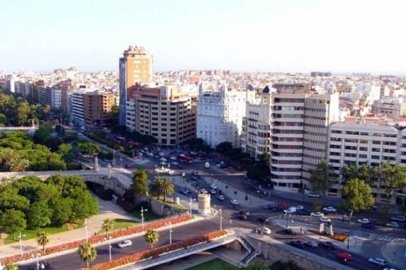 Vue de la ville de Valencia en Espagne