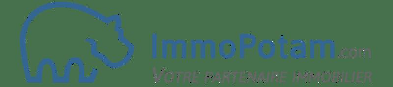 Signature ImmoPotam - Votre partenaire immobilier - 4500x1000px - plat - bleu-antracite-transparent