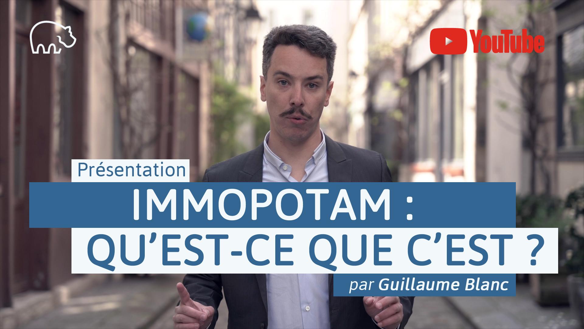 S1E0 - Bannière illustration - ImmoPotamTV - YouTube - Présentation d'ImmoPotam