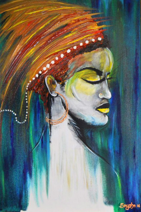 Women – Mother, Spirit, Strength & Guardian of Africa - Art by Saysha Nicolson