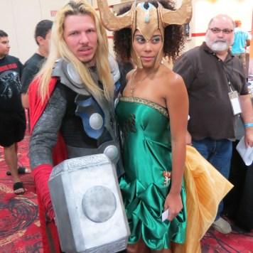 Amazing Las Vegas Comic Con Cosplayer Thor and Loki