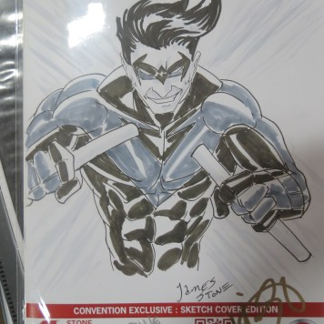 Nightwing cover on Conquest #4