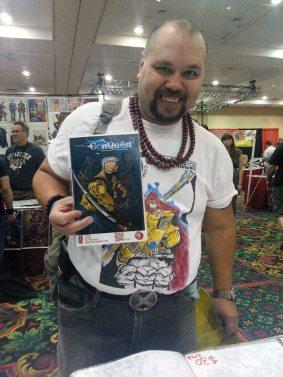 Las Vegas Expo Mark Niven Immortal Samurai Comics Conquest