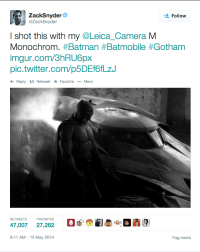 Zack Snyder's 1st Batman Picture Batman V Superman Dawn of Justice