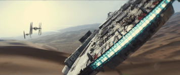 StarwarsVIIForceAwakensMilleniumFalconTieFighters2