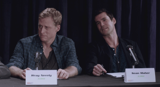 Sean Maher, and Alan Tudyk in Con Man