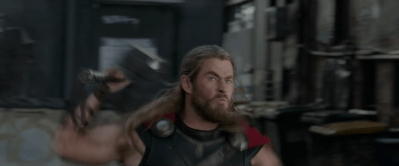 (Thor throws Mjölnir)