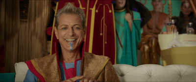 (The Grandmaster played by Jeff Goldblum)