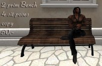2 prim bench animated