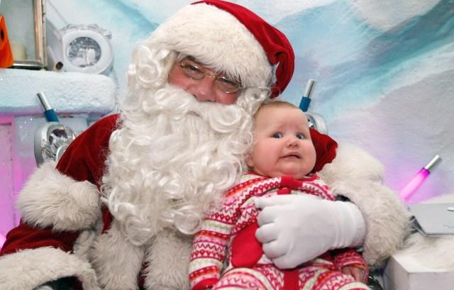 Bad frightening santa picture