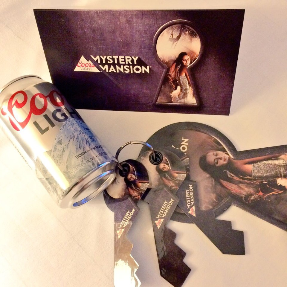 Coors Light Mystery Mansion Keys