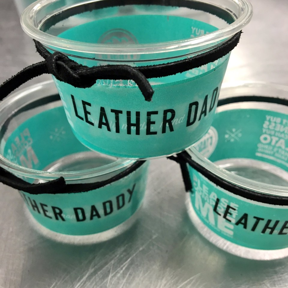 Leather Daddy PRIDE gelato flavor