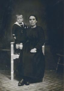 My Grandmother holding my Dad when he was 3-years old.