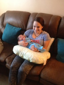 With niece Katie with her Baby cousin
