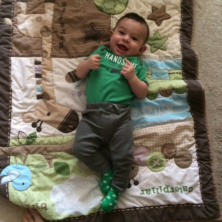 Five Months - Dressed for St. Patrick's Day