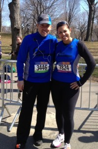 Esther and I after the 2013 Colon Cancer Challenge in Central Park