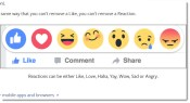 Facebook testing six emotions in addition to like