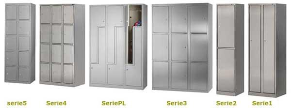 Catálogo de taquilla de vestuarios en Acero Inoxidable | Muebles de oficina Granada y mobiliario para el comercio en general.
