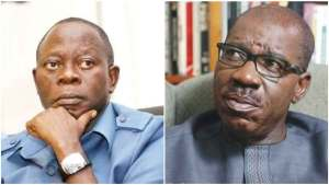 Ignore the past, we are friends, brothers - Oshiomhole begs Obaseki